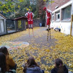 Les échasseurs à l'école (21 novembre 2019)